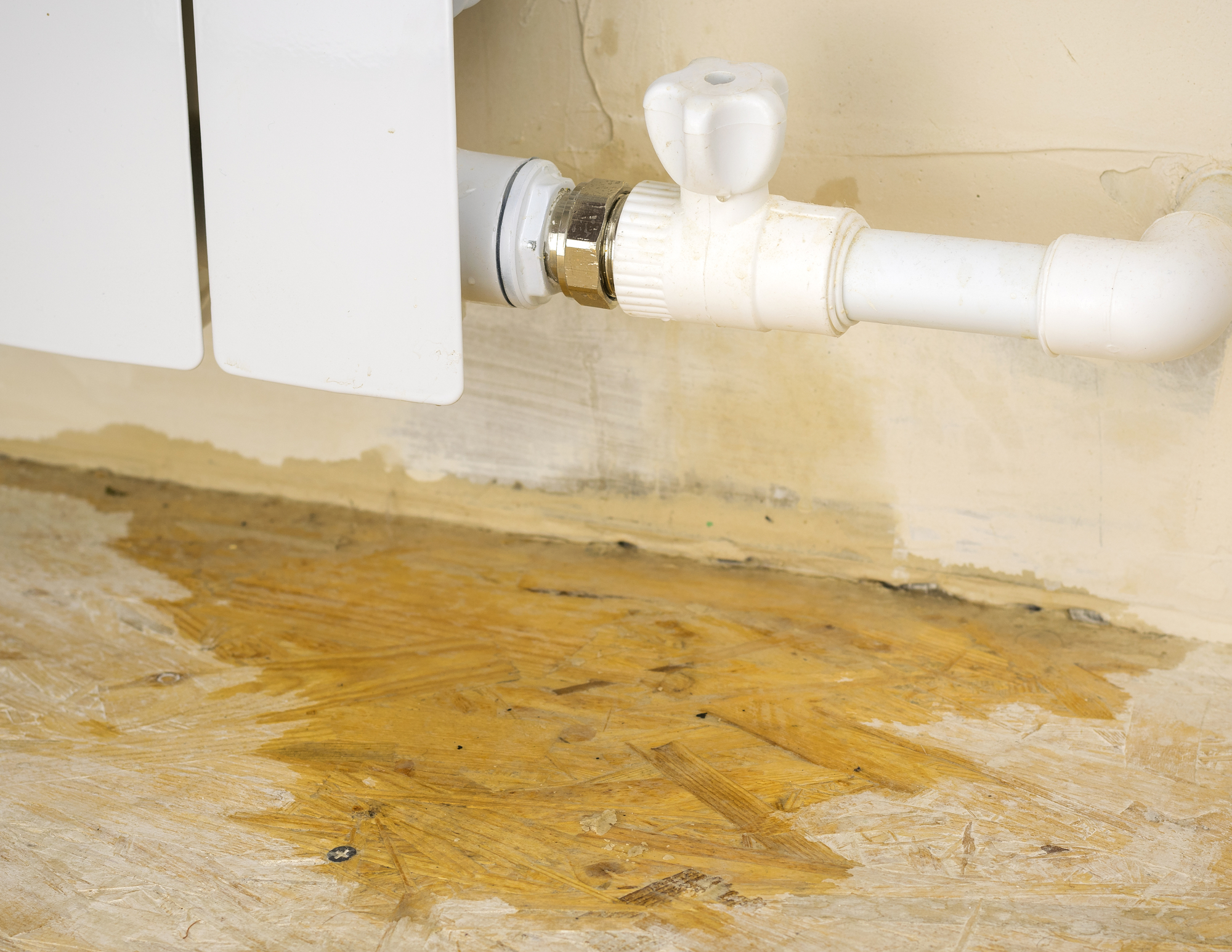 Damage to the heating system in a private home